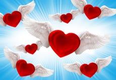 爱在天空中 向量例证