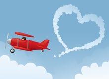 爱在天空中 免版税库存照片