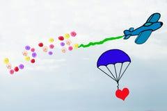 爱在天空中 图库摄影