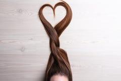 爱在头发 免版税库存图片