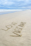 爱在沙子写的越南 库存图片