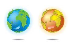 爱地球 向量例证