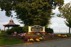 爱塞克斯郡老鹰岩石9月11日纪念品,西奥兰治,新泽西,美国 免版税库存照片