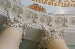 爱奥尼亚人柱头建筑细节 免版税图库摄影
