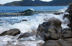 爱奥尼亚人海边 库存图片