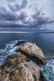 爱奥尼亚海岩石  图库摄影