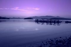 爱奥尼亚海早晨视图,希腊 免版税库存图片