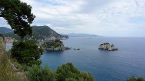 爱奥尼亚海的海湾 免版税库存照片