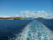 爱奥尼亚海看法  免版税库存照片