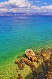 爱奥尼亚海视图希腊 库存图片