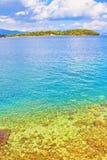 爱奥尼亚海视图希腊 免版税库存图片