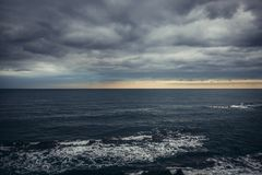 爱奥尼亚海视图 库存图片