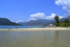 爱奥尼亚海透明的水,希腊 库存照片