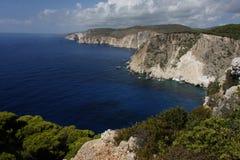 爱奥尼亚海风景 免版税库存图片