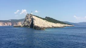 爱奥尼亚海,希腊,莱夫卡斯州海岛,海角莱夫卡斯州 股票视频