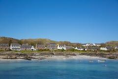 爱奥那岛苏格兰英国内在Hebrides苏格兰海岛小岛在离Mull的附近西部苏格兰海岸  免版税库存图片