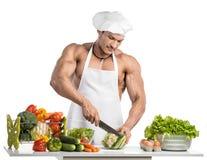 爱好健美者厨师 免版税库存图片