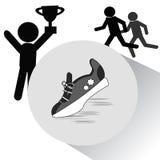 爱好健美者图标剪影体育运动 库存图片