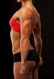 爱好健美者女性健身 库存照片