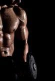 爱好健美者概念哑铃健身体操 库存图片