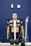 爱好健美者设备重量 库存图片