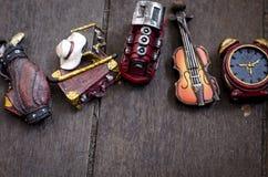 爱好和休闲播种了对象概念图象,微型小提琴 库存照片
