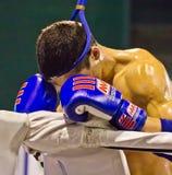 爱好者亲是Muaythai世界冠军 免版税库存照片