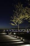 从爱好者码头南波士顿的早晨微明 免版税库存照片