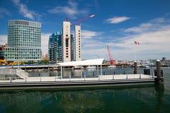 爱好者码头的新建工程豪华公寓房在波士顿 免版税图库摄影