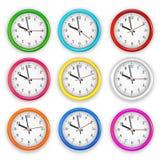 爱好者装配了时钟图象时数图象少许奇怪的墙壁制表者 免版税库存图片