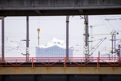 爱好音乐大厅在汉堡 免版税库存照片