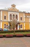 爱好音乐大厅,切尔诺夫策,乌克兰看法  库存图片