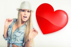 爱妇女年轻人 免版税库存图片