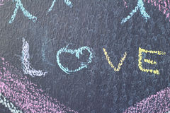 爱字词在委员会的 免版税图库摄影