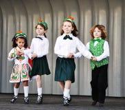 爱尔兰人舞蹈。 免版税库存图片