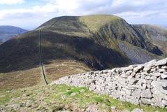 爱尔兰北山的mourne 图库摄影