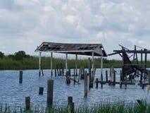 爱尔兰多沼泽的支流船坞 免版税库存图片