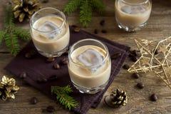 爱尔兰奶油色咖啡利口酒 图库摄影