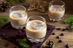 爱尔兰奶油色咖啡利口酒 免版税库存照片