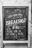 爱尔兰客栈的早餐提议-伦敦-大英国- 2016年9月19日 免版税库存照片