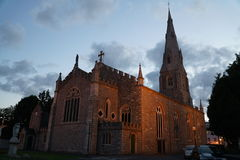 爱尔兰教会在Naas镇在一个晚上 库存图片