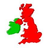 爱尔兰映射英国 免版税库存照片