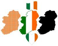 爱尔兰映射 免版税库存图片
