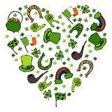 爱尔兰标志的汇集 艺术背景创建了重点被绘的摄影师形状 免版税图库摄影