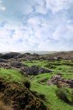爱尔兰横向岩石废墟 免版税库存照片