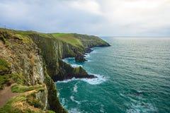 爱尔兰横向 海岸线大西洋海岸科克郡,爱尔兰 库存照片