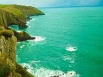爱尔兰横向 海岸线大西洋海岸风景 免版税库存图片