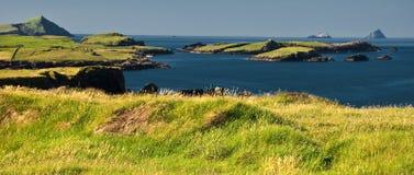 爱尔兰横向seacape充满活力的西部 免版税库存图片
