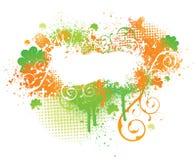 爱尔兰油漆三叶草泼溅物 向量例证