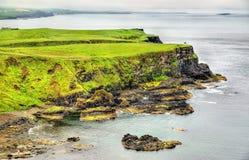 爱尔兰海岛坚固性海岸线  免版税库存图片